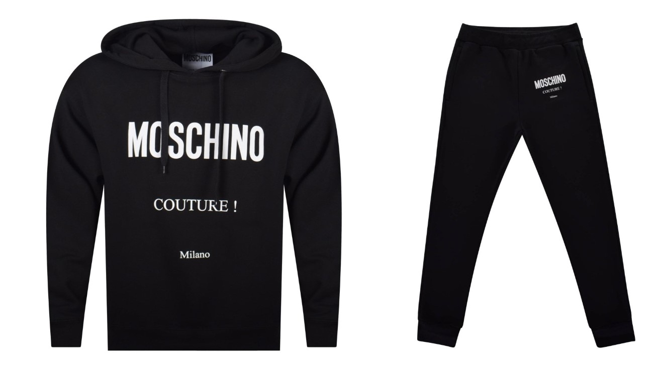 Moschino hodie and tracksuit bottoms couture print