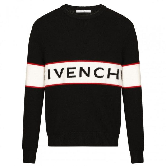 givenchy heavy kit logo band sweater