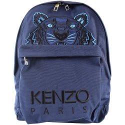 blue kenzo tiger logo rucksack