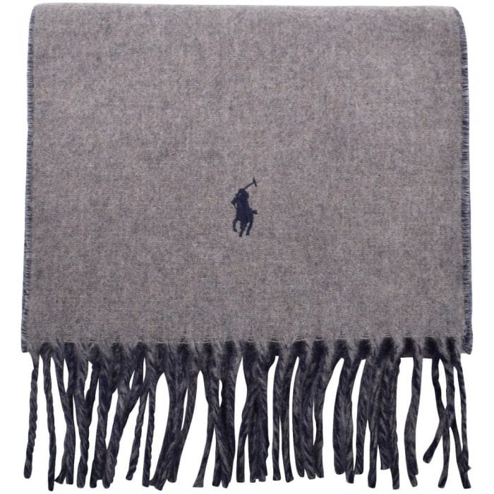 grey wool polo ralph lauren scarf
