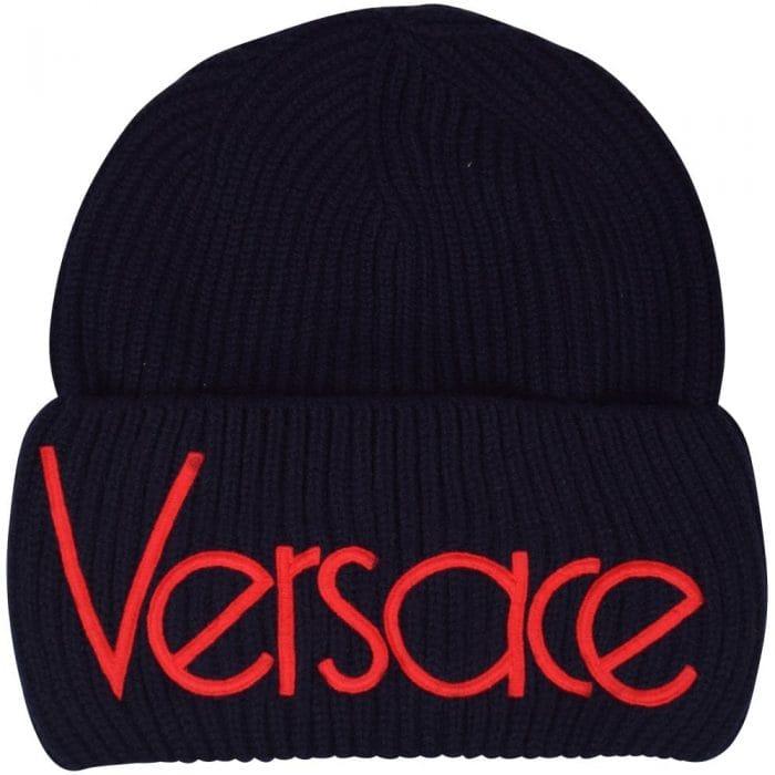 versace black vintage logo hat