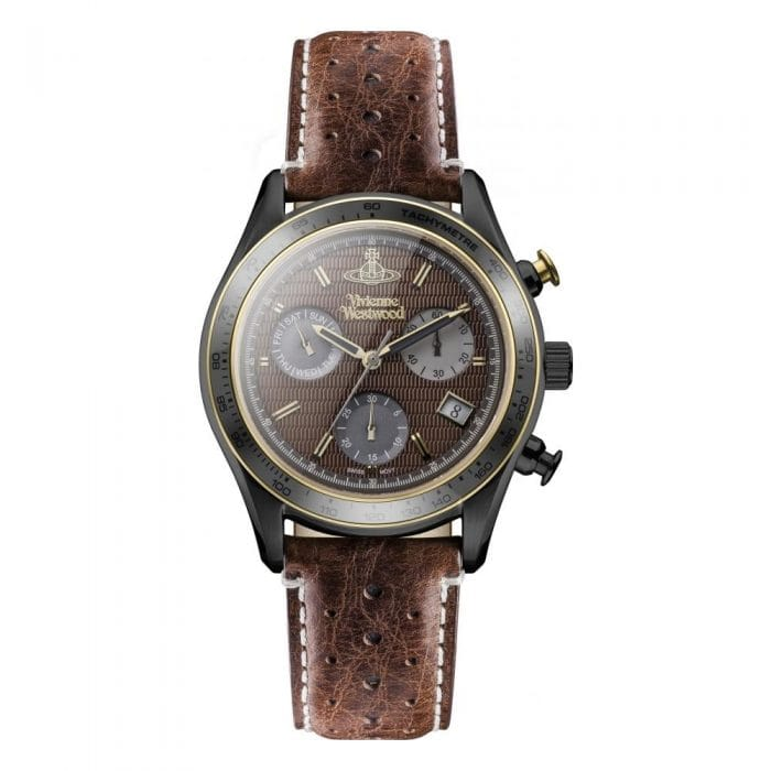 brown leather vivienne westwood sotheby watch