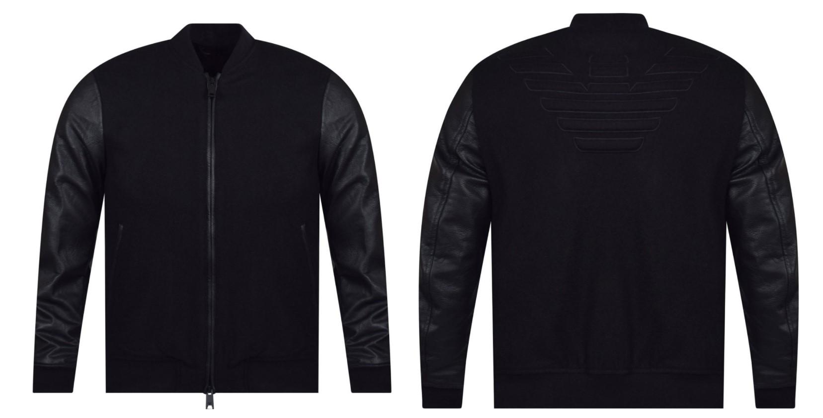 emporio armani logo bomber jacket