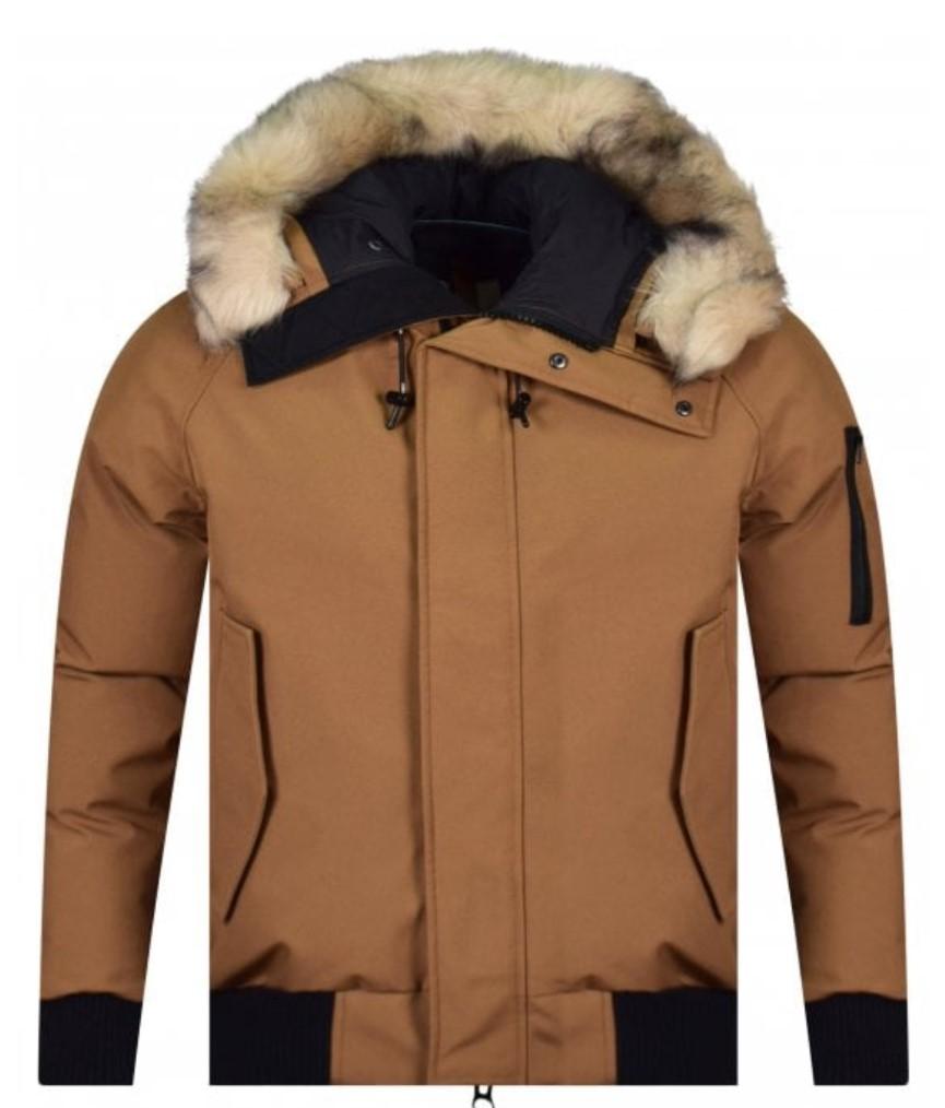 kenzo camel brown padded winter jacket