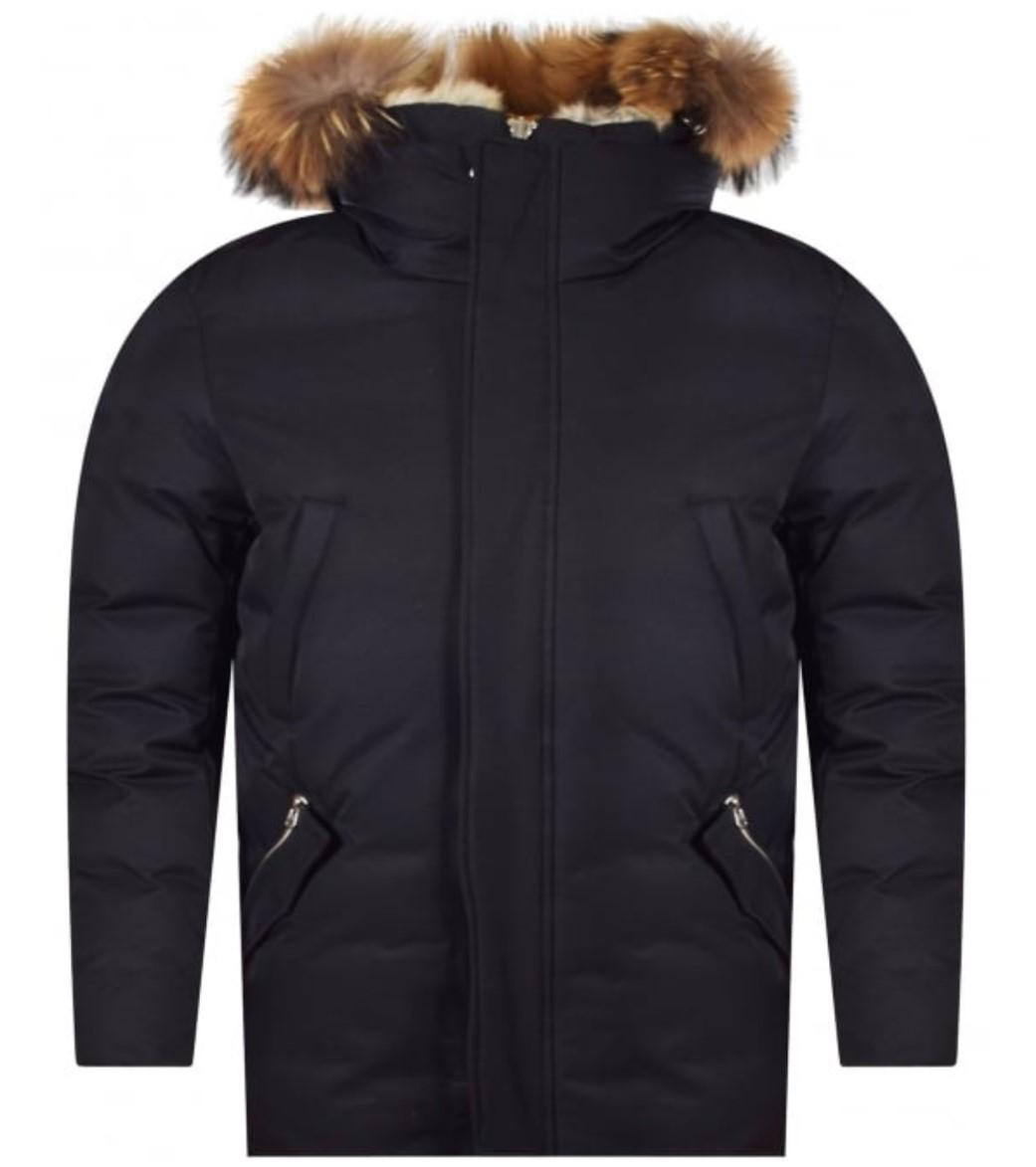 mackage black edward parka with fur