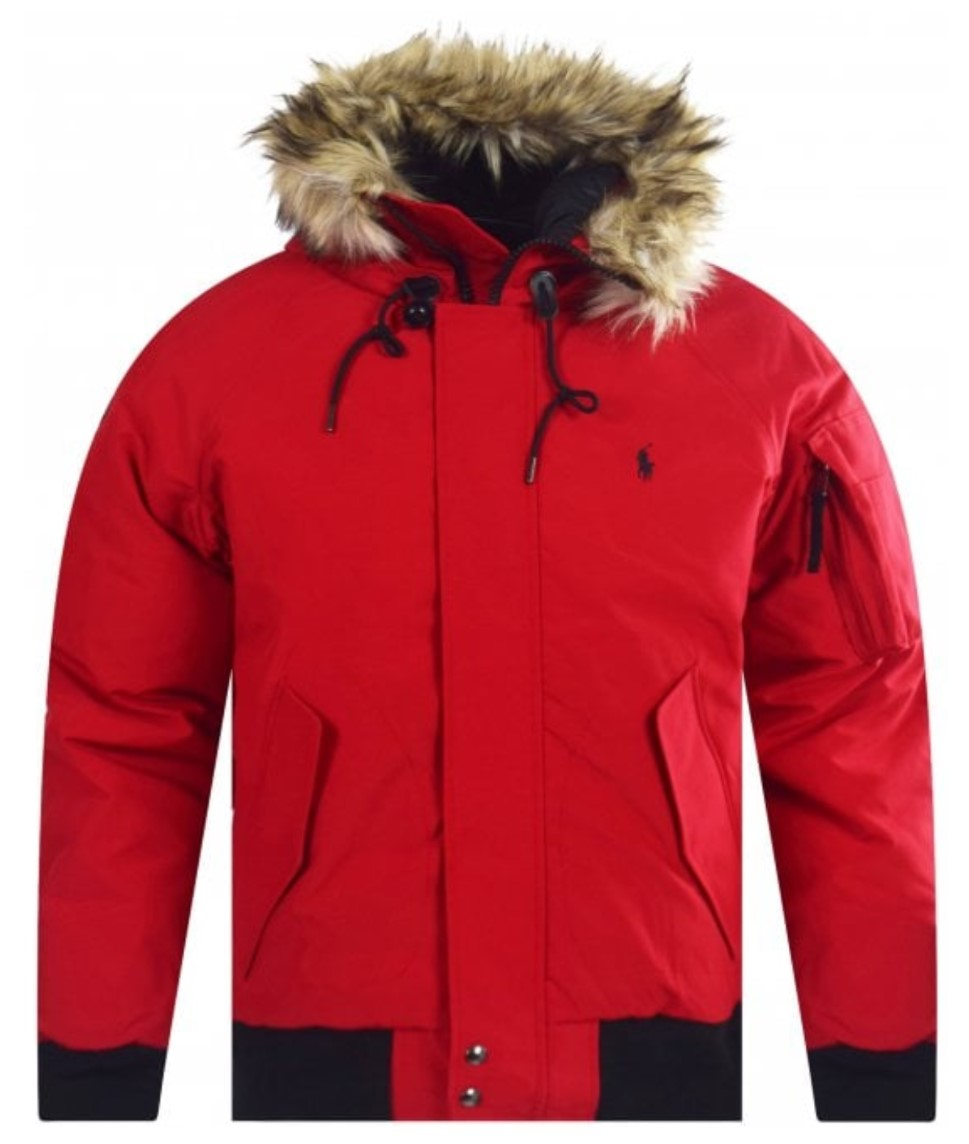 polo ralph lauren red winter bomber jacket