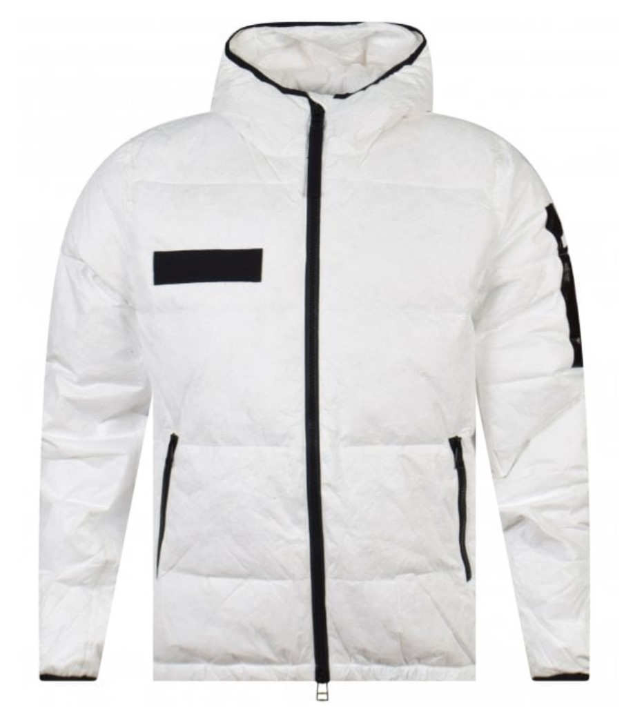 true religion white padded jacket