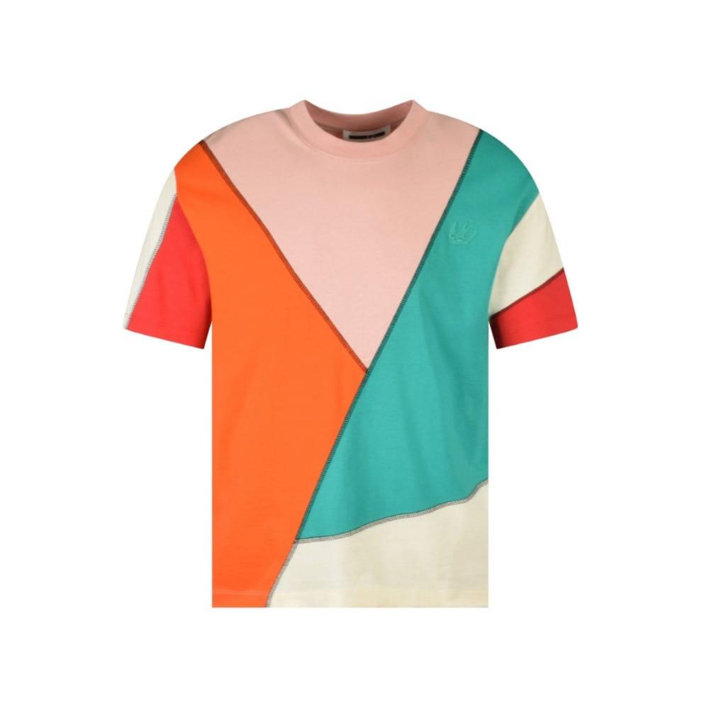 MCQ BY ALEXANDER MCQUEEN Colourblock Oversized Swallow T-Shirt
