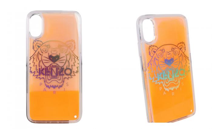 orange Kenzo tiger logo iphone case