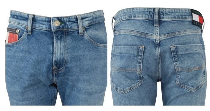 Front and rear collage of Tommy Jeans scanton