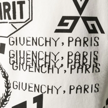 Givenchy off-white jumper logo print closeup