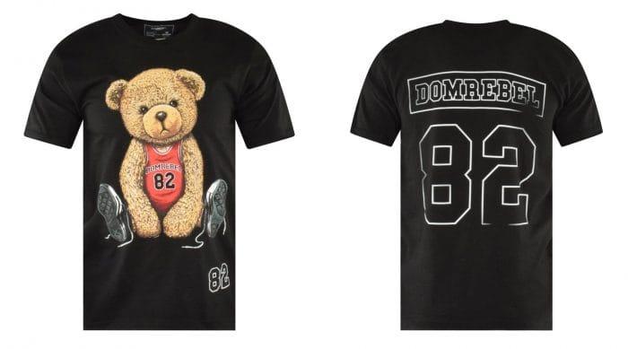 black bear basketball print t-shirt domrebel
