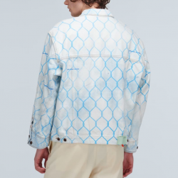 off-white bleached denim chain link jacket (mytheresa)