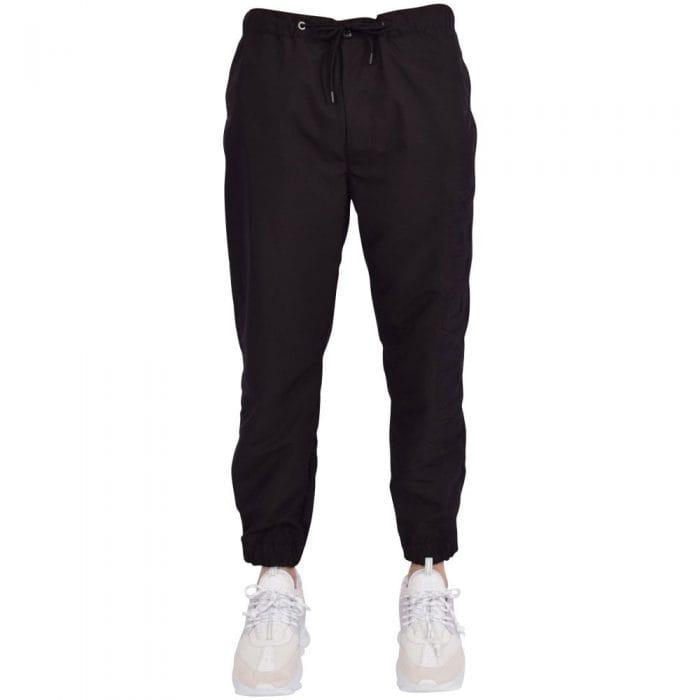 moncler embossed logo polyester jogging bottoms