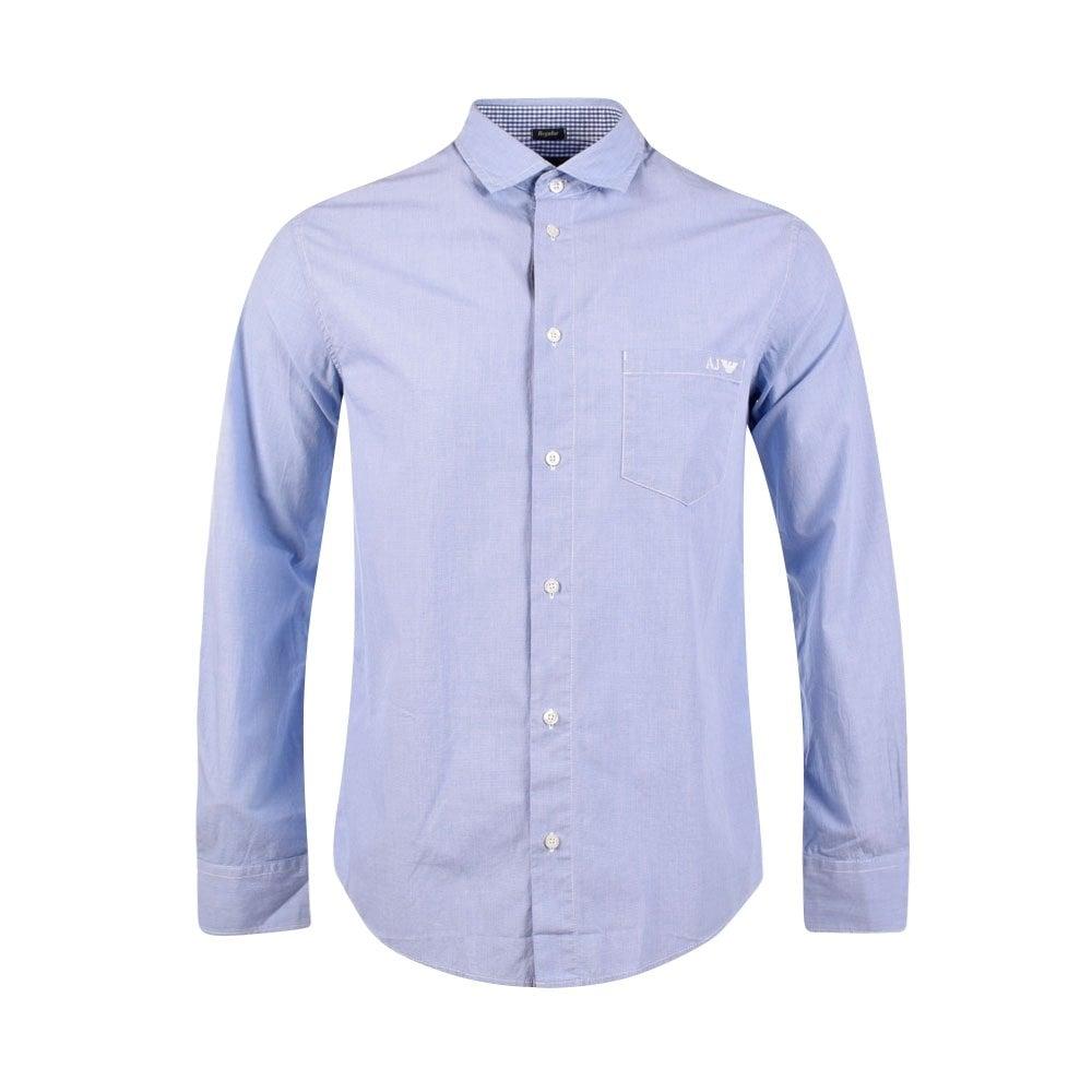9a9bcf90a6a EMPORIO ARMANI 06C03NH Sky Blue Long Sleeve Shirt - Men from ...