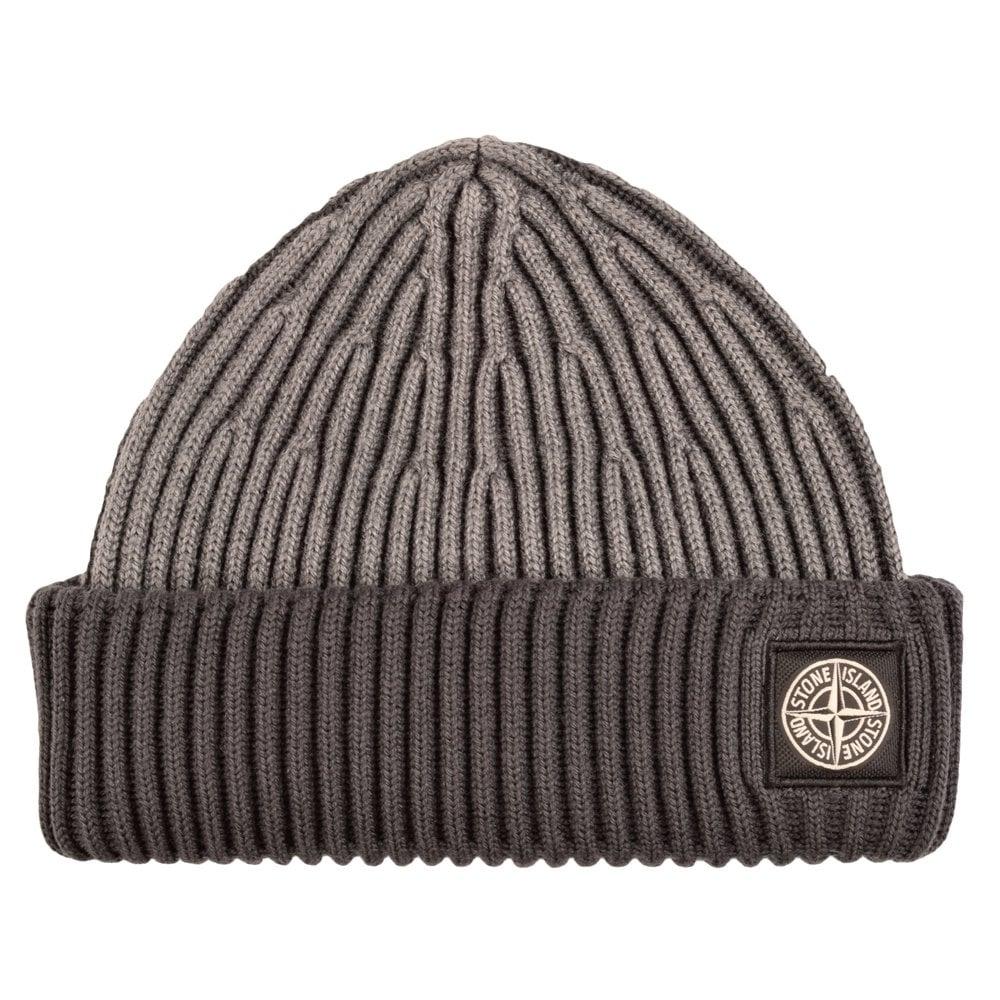 STONE ISLAND 6115N09C6 Two Tone Grey Beanie Hat - Men from ... fd81c47f957