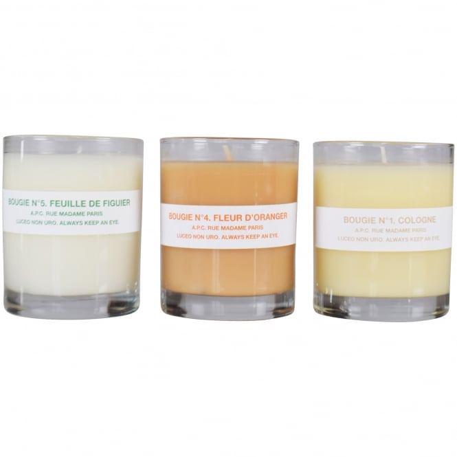 A.P.C APC 1,4,5 Trio Scented Candle Set