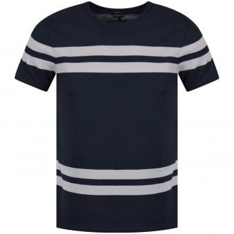 2254e53f501 APC Blue Grey Stripe T-Shirt