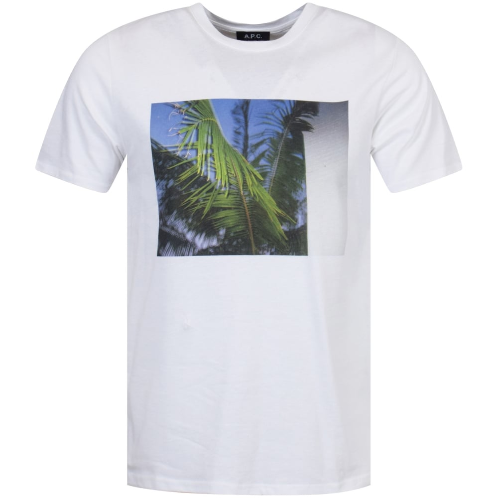 A p c apc tropical image t shirt men from brother2brother uk for Apc white t shirt