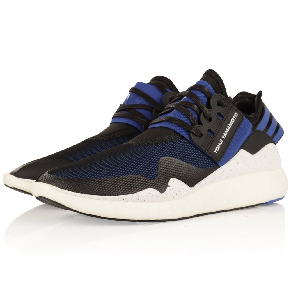 adidas y 3 adidas y 3 black blue retro boost trainers. Black Bedroom Furniture Sets. Home Design Ideas