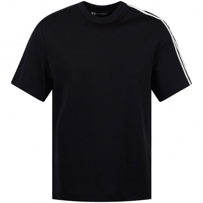 ADIDAS Y-3 Black 3 Stripe Sleeve T-Shirt