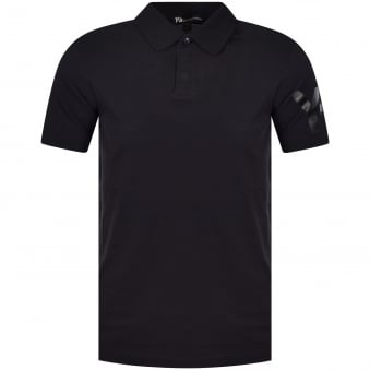 Adidas Y-3 Black/Black Sleeve Logo Polo Shirt