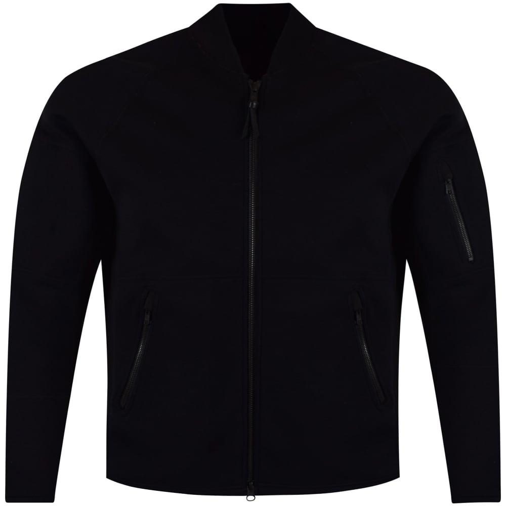 f1a0255a3d41 ADIDAS Y-3 Adidas Y-3 Black Cotton Back Logo Bomber Jacket - Men ...
