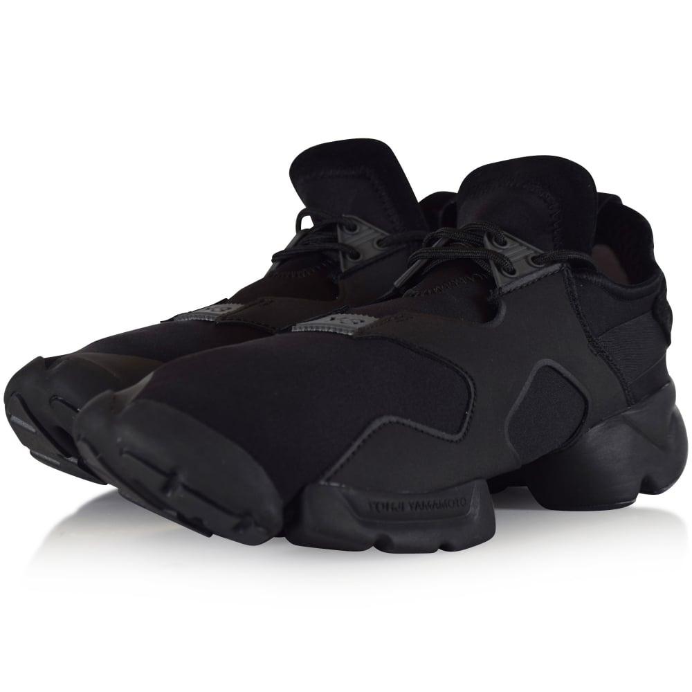 on sale 019ba 3d5cb Adidas Y-3 Black Kohna Trainers