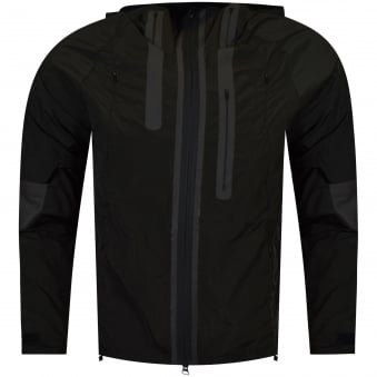Adidas Y-3 Black/Olive Hooded Jacket