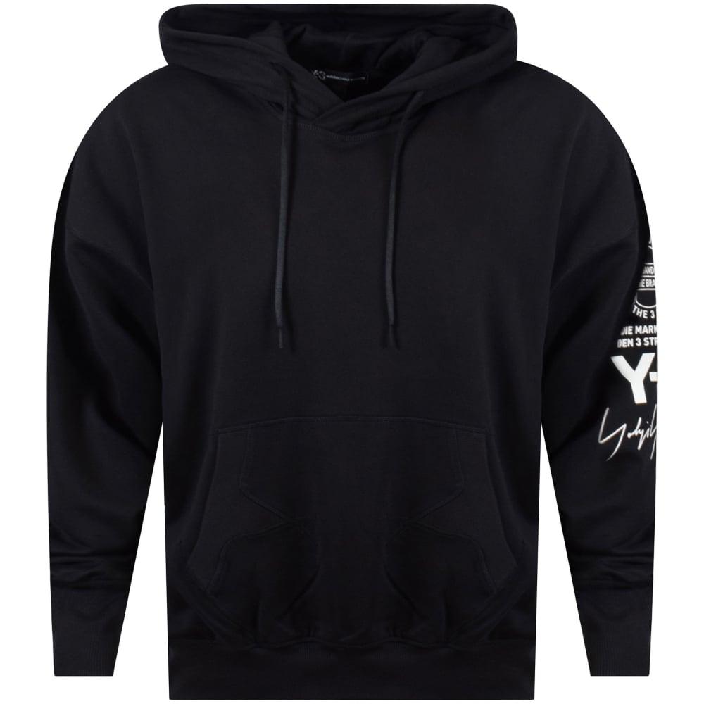 27751ddfc2b8 ADIDAS Y-3 Adidas Y-3 Black Pullover Sleeve Logo Hoodie - Men from ...