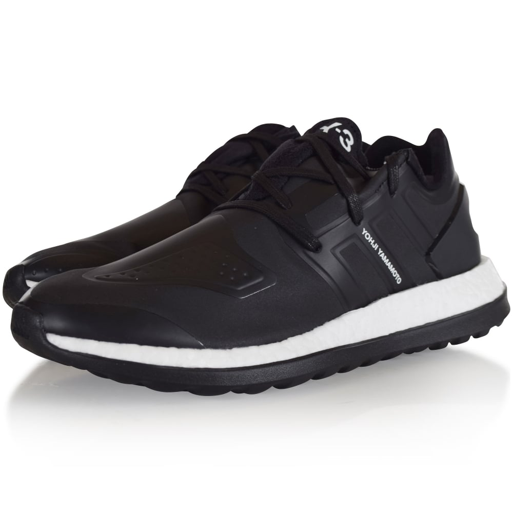 bc9a61eae ADIDAS Y-3 Adidas Y-3 Black Pure Boost ZG Trainers - Men from ...