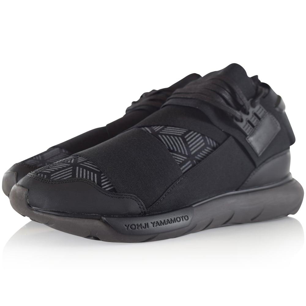 2ff291e847916 ADIDAS Y-3 Adidas Y-3 Black Qasa High Trainer - Men from ...