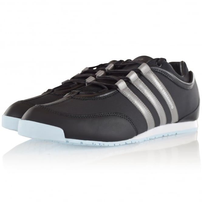 ADIDAS Y-3 Black/Silver Leather Boxing Trainers