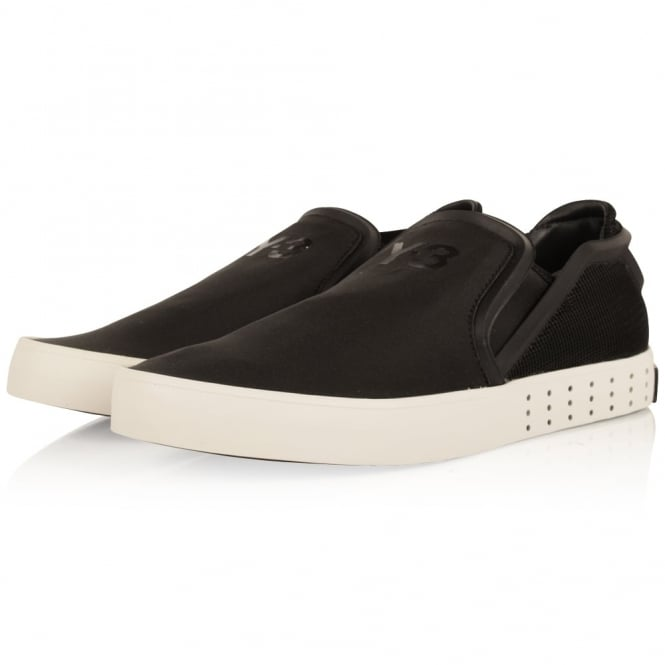 ADIDAS Y-3 Black & White Laver Slip On Trainers