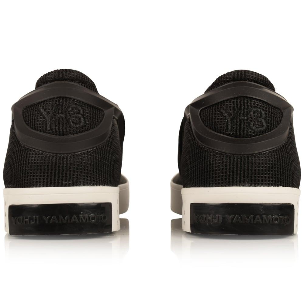 cc3abe169 ADIDAS Y-3 Adidas Y-3 Black   White Laver Slip On Trainers - Men ...