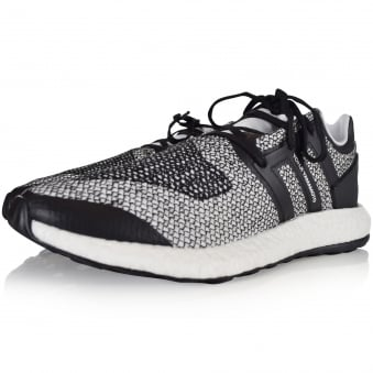 Adidas Y-3 Black/White Pure Boost Trainers