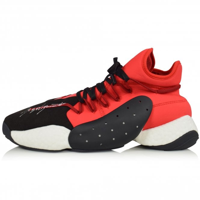 ADIDAS Y-3 Black/White/Red BYW BBALL Trainers