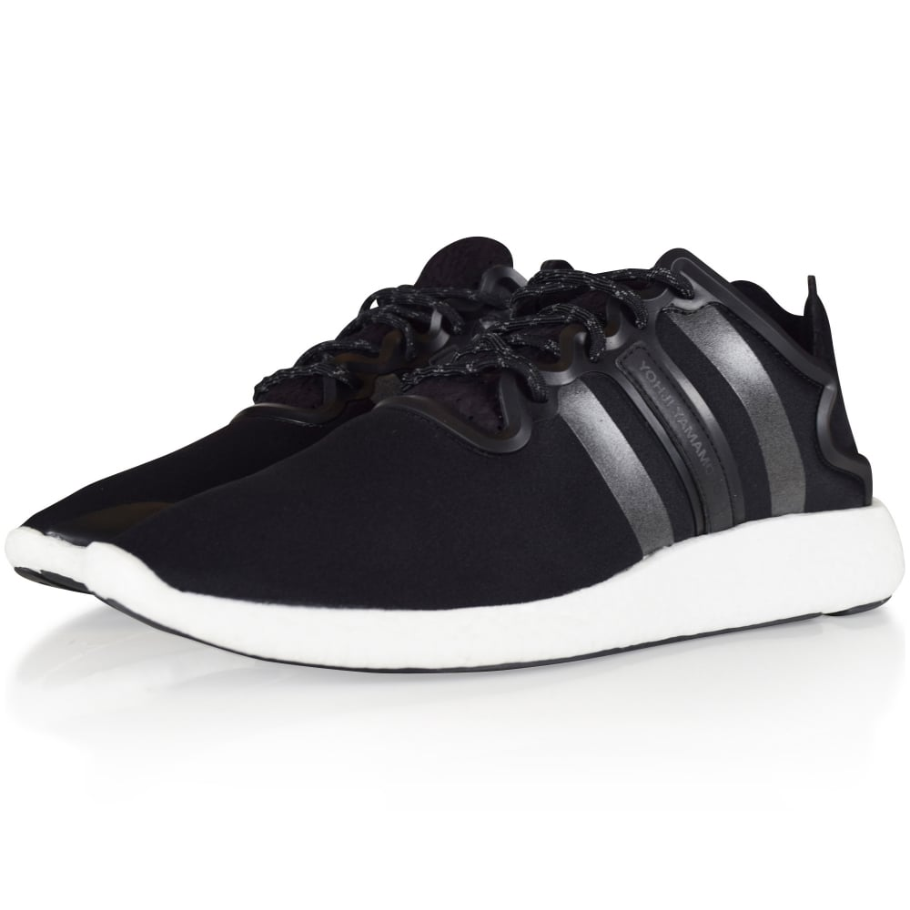 07ff0df1d826 ADIDAS Y-3 Black Yohji Run Trainers