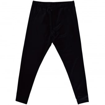 Adidas Y-3 Black Zip Closure Jogging Bottoms