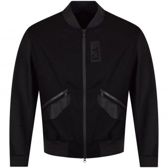 Adidas Y-3 Charcoal Contrast Bomber Jacket