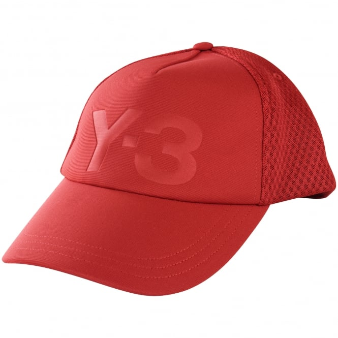 ADIDAS Y-3 Red Trucker Cap