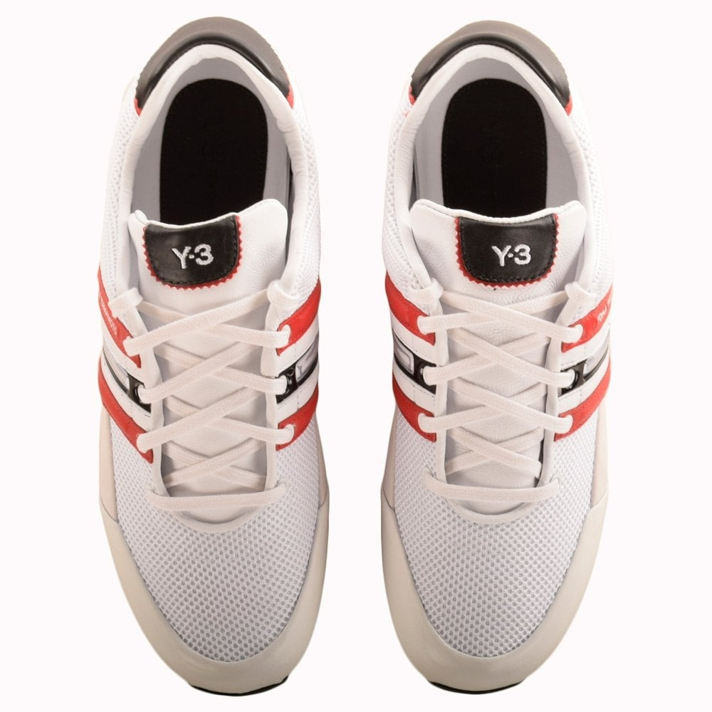6c2b3ee42a58b ADIDAS Y-3 Adidas Y-3 Sprint White   Red Trainers - Men from ...