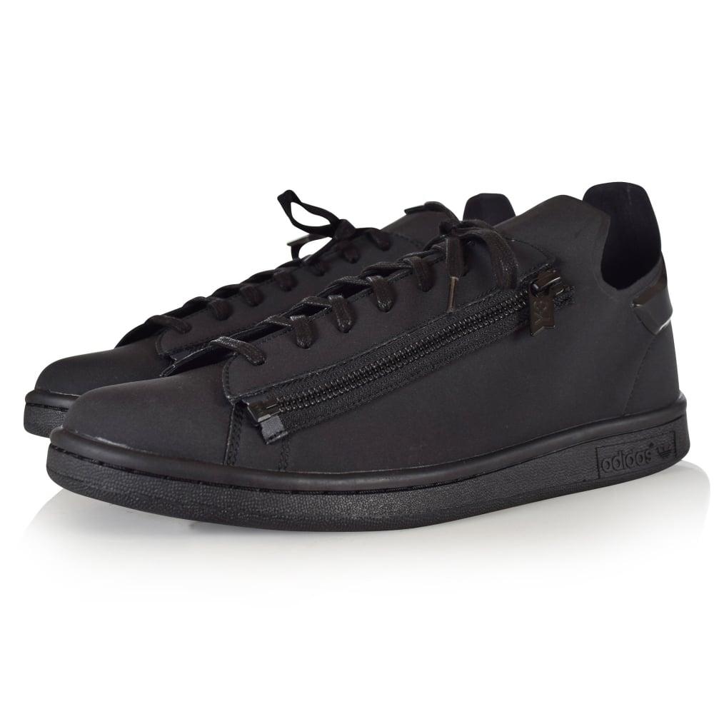 ec81b51d662 ADIDAS Y-3 Adidas Y-3 Triple Black Zip Stan Smith Trainers - Men ...