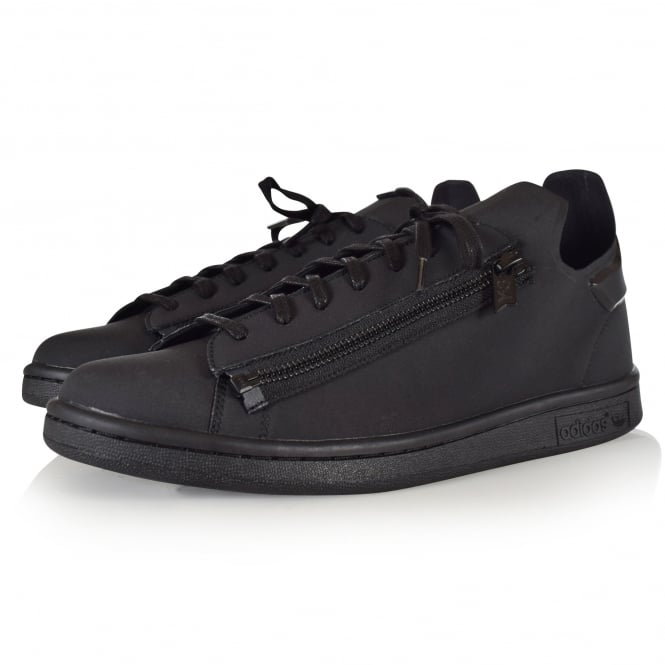 ADIDAS Y-3 Triple Black Zip Stan Smith Trainers