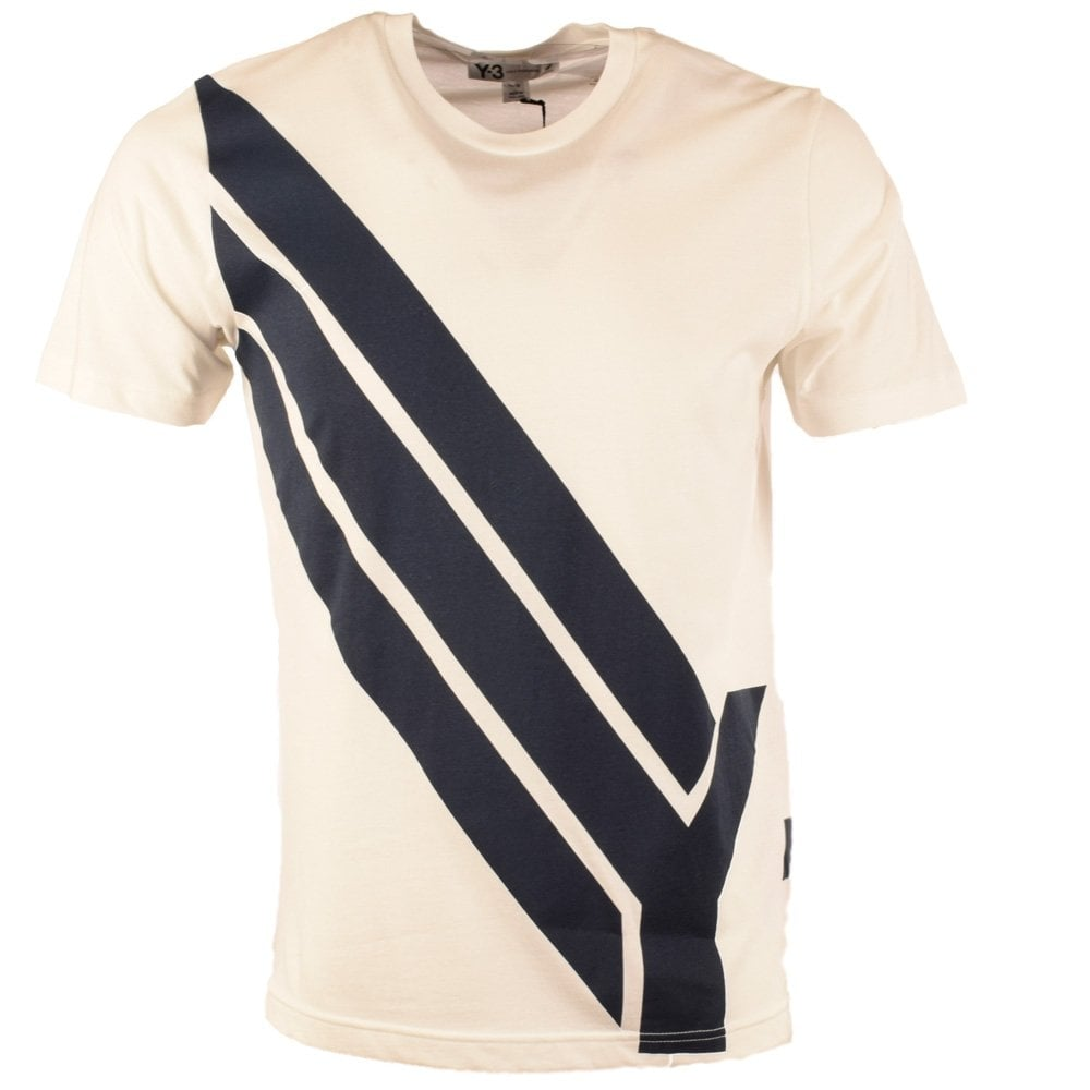 780392045d241 ADIDAS Y-3 Adidas Y-3 White 3 Stripe Crew Neck T-Shirt - Men from ...