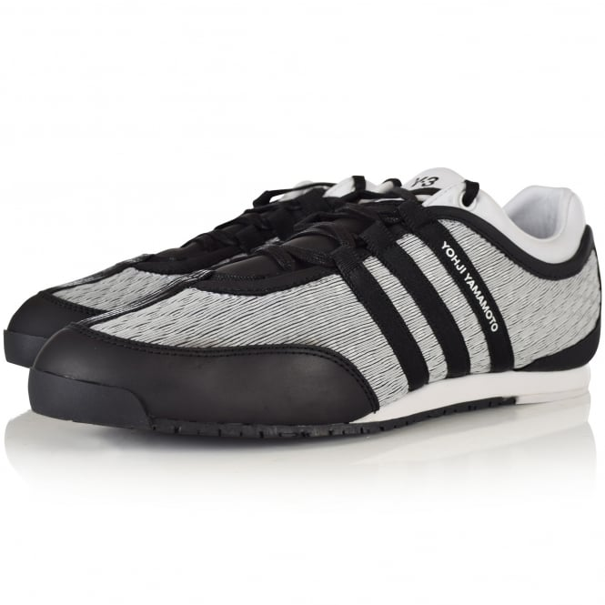 ADIDAS Y-3 White and Black Boxing trainers CG3136