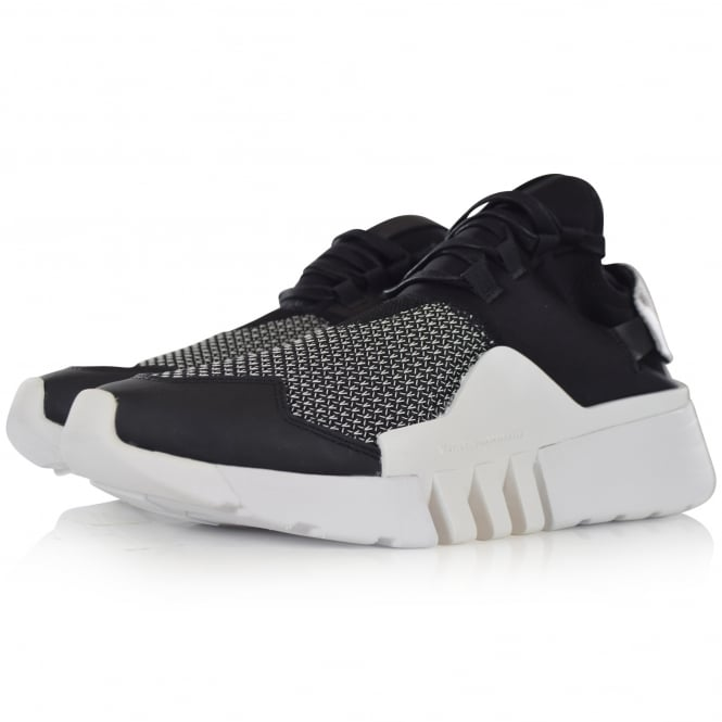 ADIDAS Y-3 White/Black Ayero Trainers