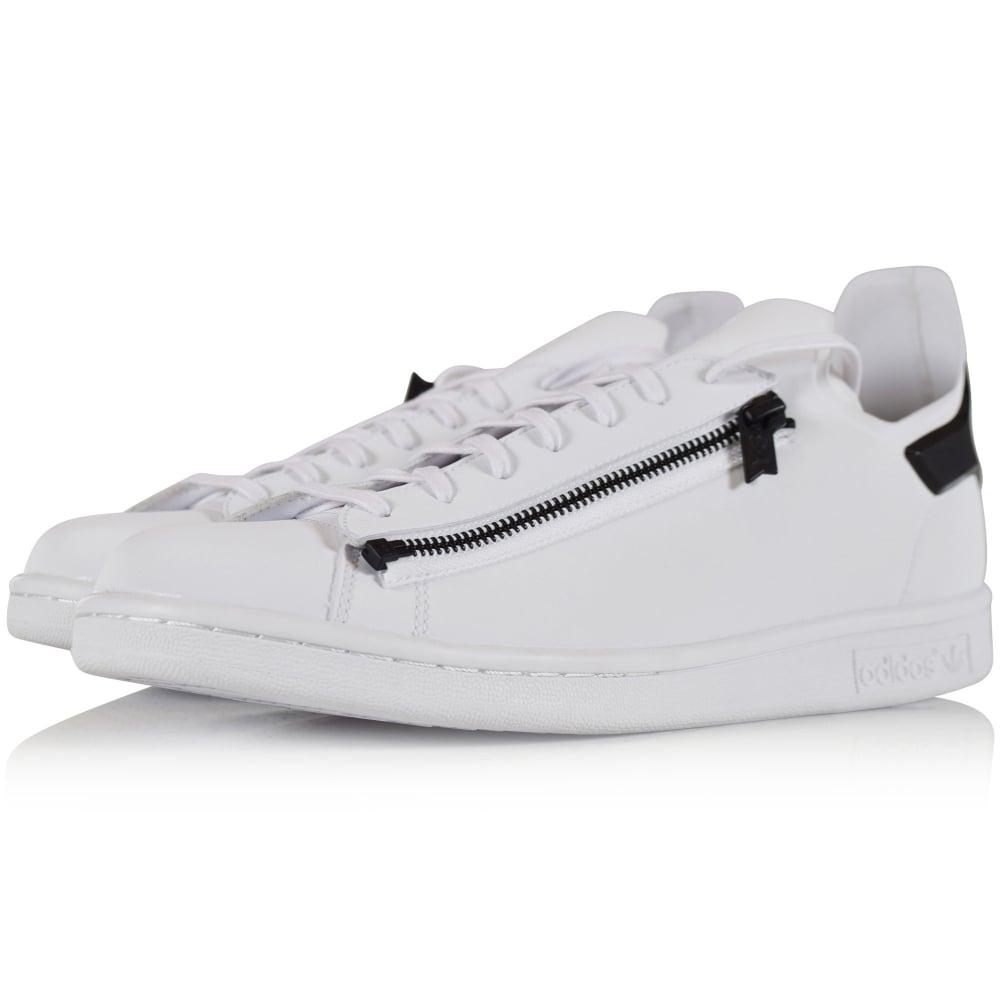 f6af5ab5a ADIDAS Y-3 Adidas Y-3 White Black Stan Zip Trainers - Men from ...
