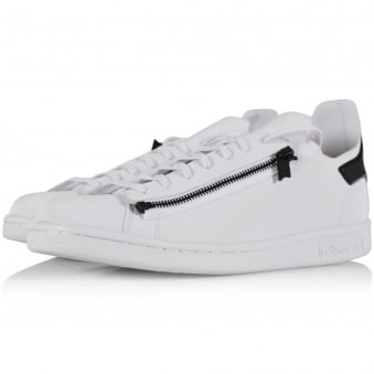 Adidas Y-3 White/Black Stan Zip Trainers