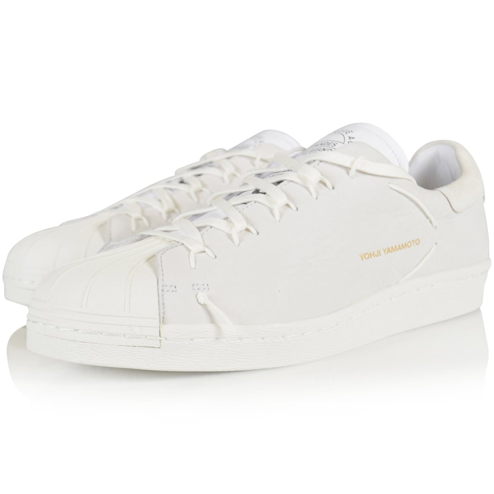 ADIDAS Y-3 Adidas Y-3 White Leather Super Knot Sport Style Trainers ... 05dac3371a32